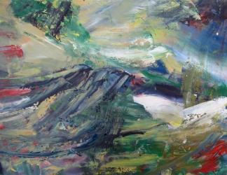 francine-kooij-acryl-kleur-besneeuwd-berglandschap-01