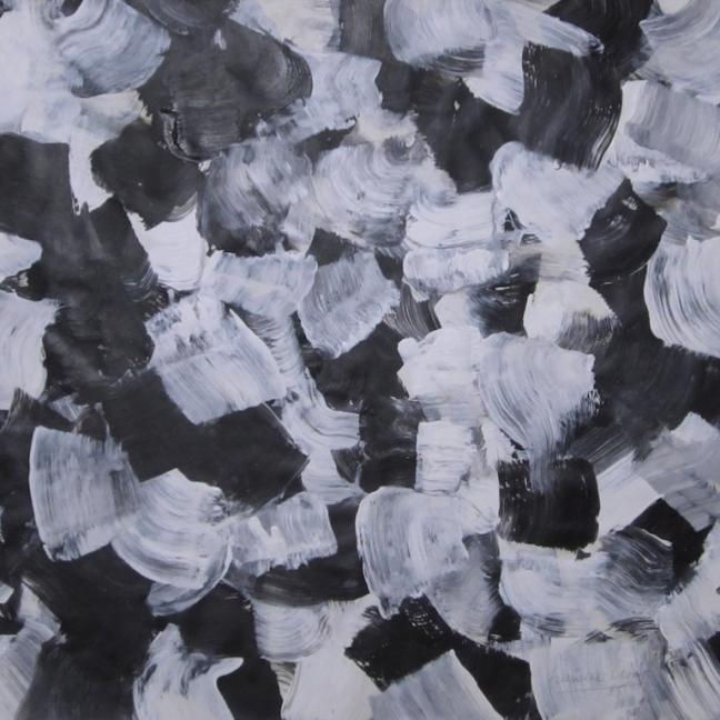 Acryl zwart wit bewegend