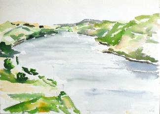 Aquarel Landschappelijk