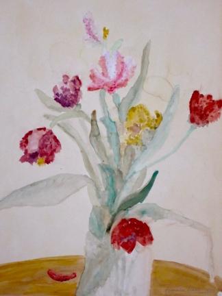 francine-kooij-aquarellen-stillevens-tulpen