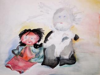 francine-kooij-aquarellen-stillevens-vader-en-dochter