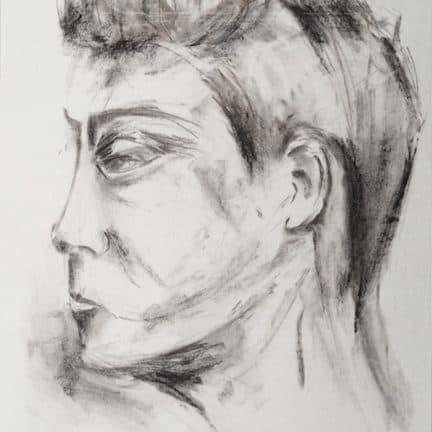 Houtskool tekeningen portretten